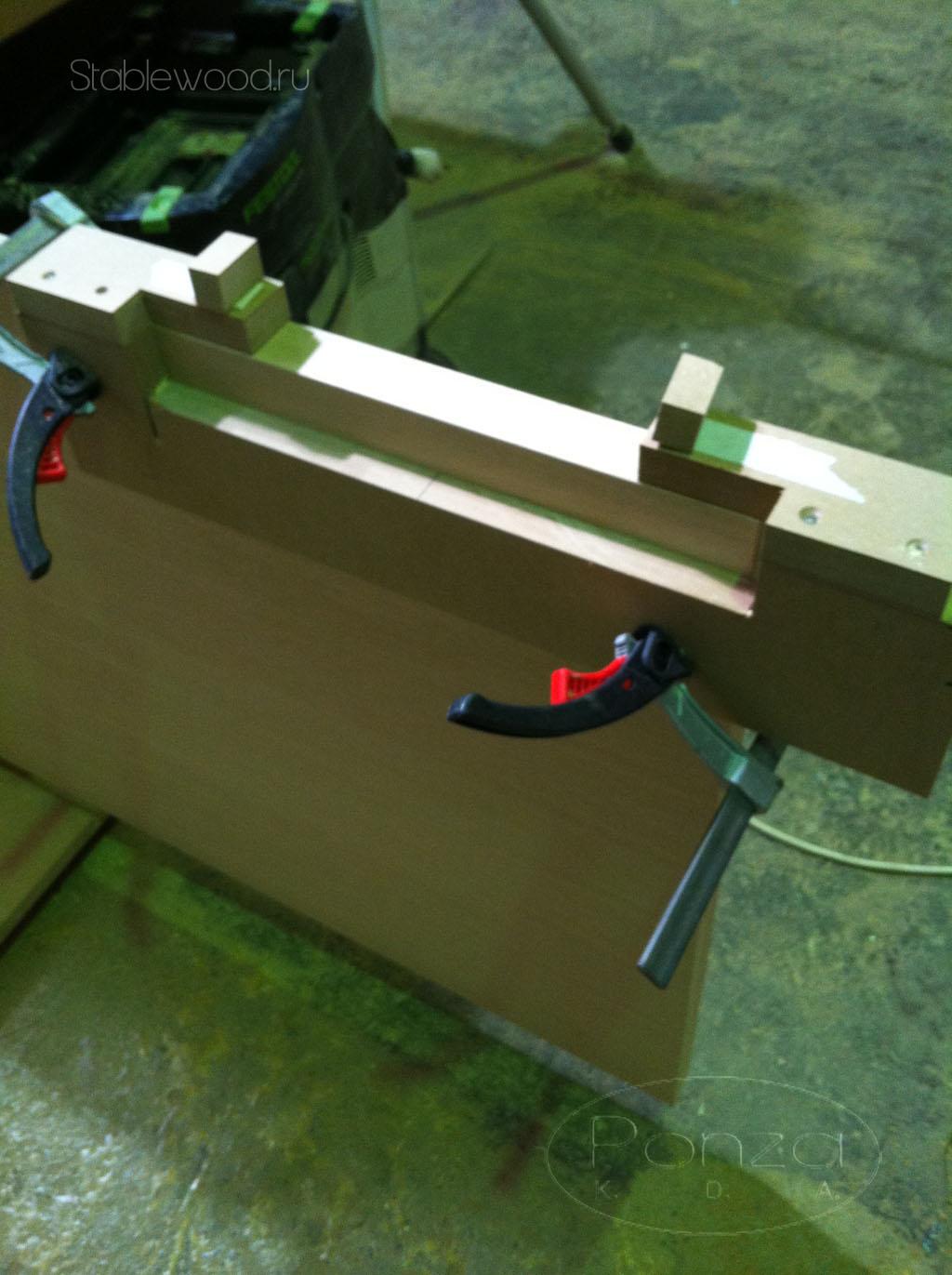 Шаблон для врезки замков фрезером